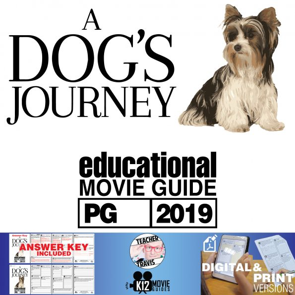 A Dog's Journey Movie Guide | Questions | Worksheet (PG - 2019) Cover