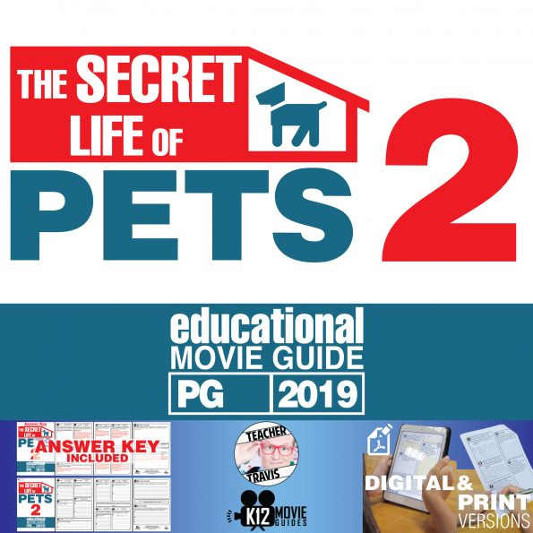 The Secret Life of Pets 2 Movie Guide | Questions | Worksheet (PG - 2019) Cover