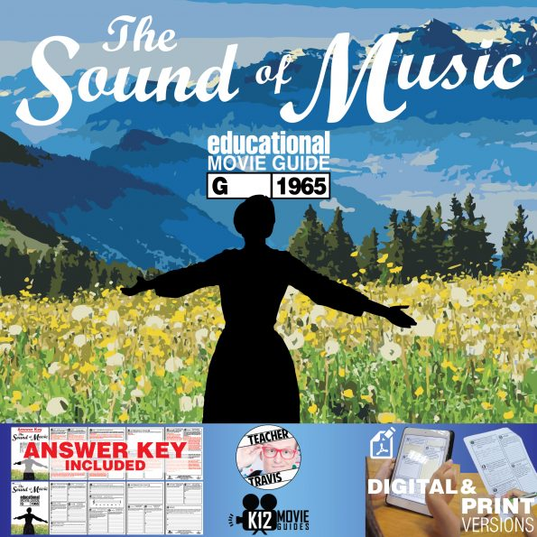 The Sound of Music Movie Guide | Questions | Worksheet (G - 1965) Cover