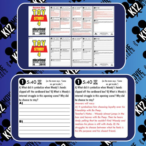 Toy Story 4 Movie Guide | Questions | Worksheet | Google Classroom (G - 2019) Sample