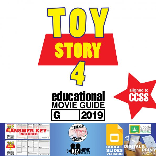 Toy Story 4 Movie Guide | Questions | Worksheet | Google Classroom (G - 2019) Cover