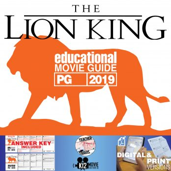 The Lion King *NEW* Movie Guide | Questions | Worksheet (PG - 2019) Cover