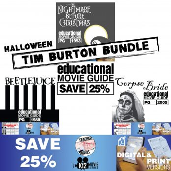 Halloween - Tim Burton - Movie Guide | Worksheet Bundle - SAVE OVER 25% Cover