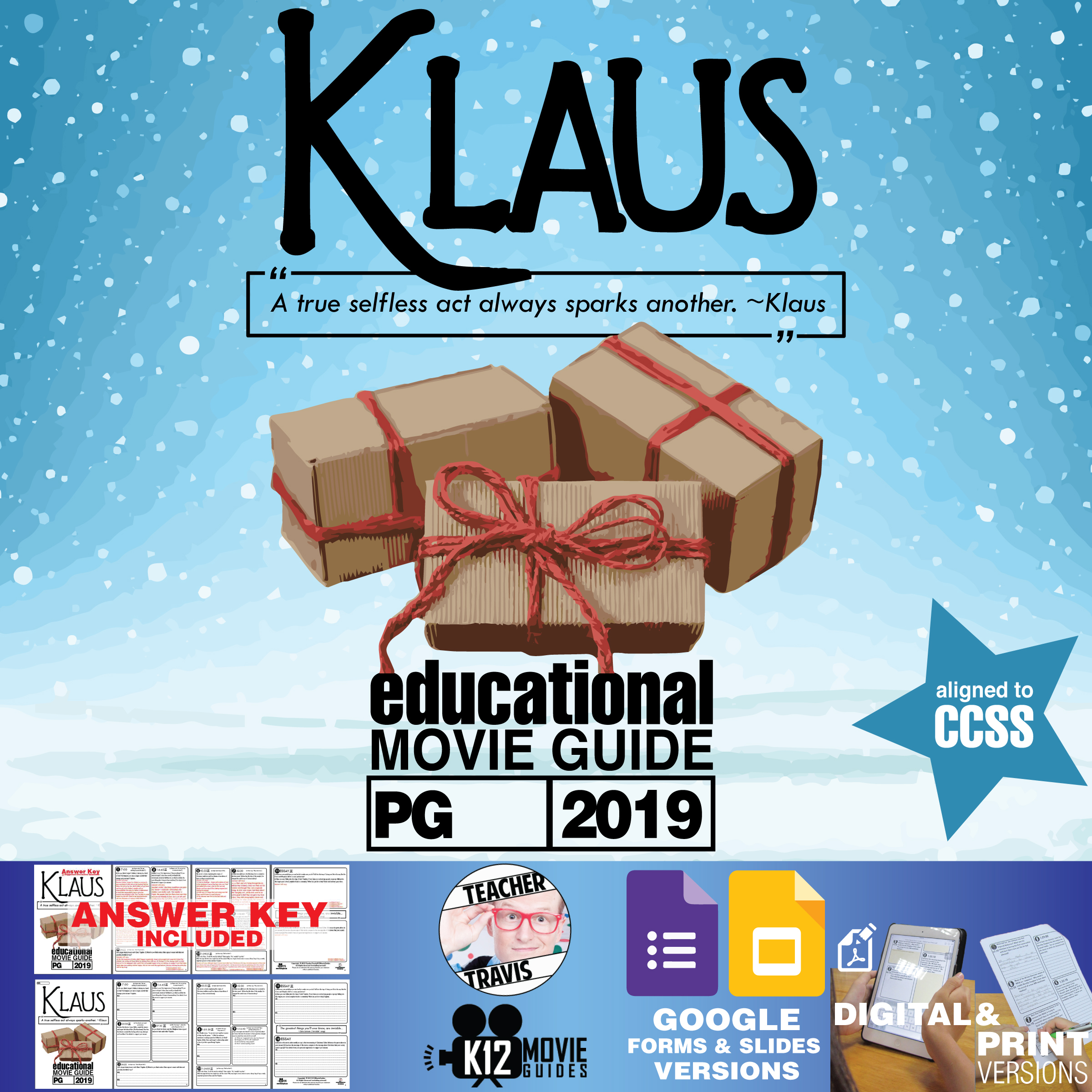 Klaus Movie Guide   Questions (PG - 2019) Cover