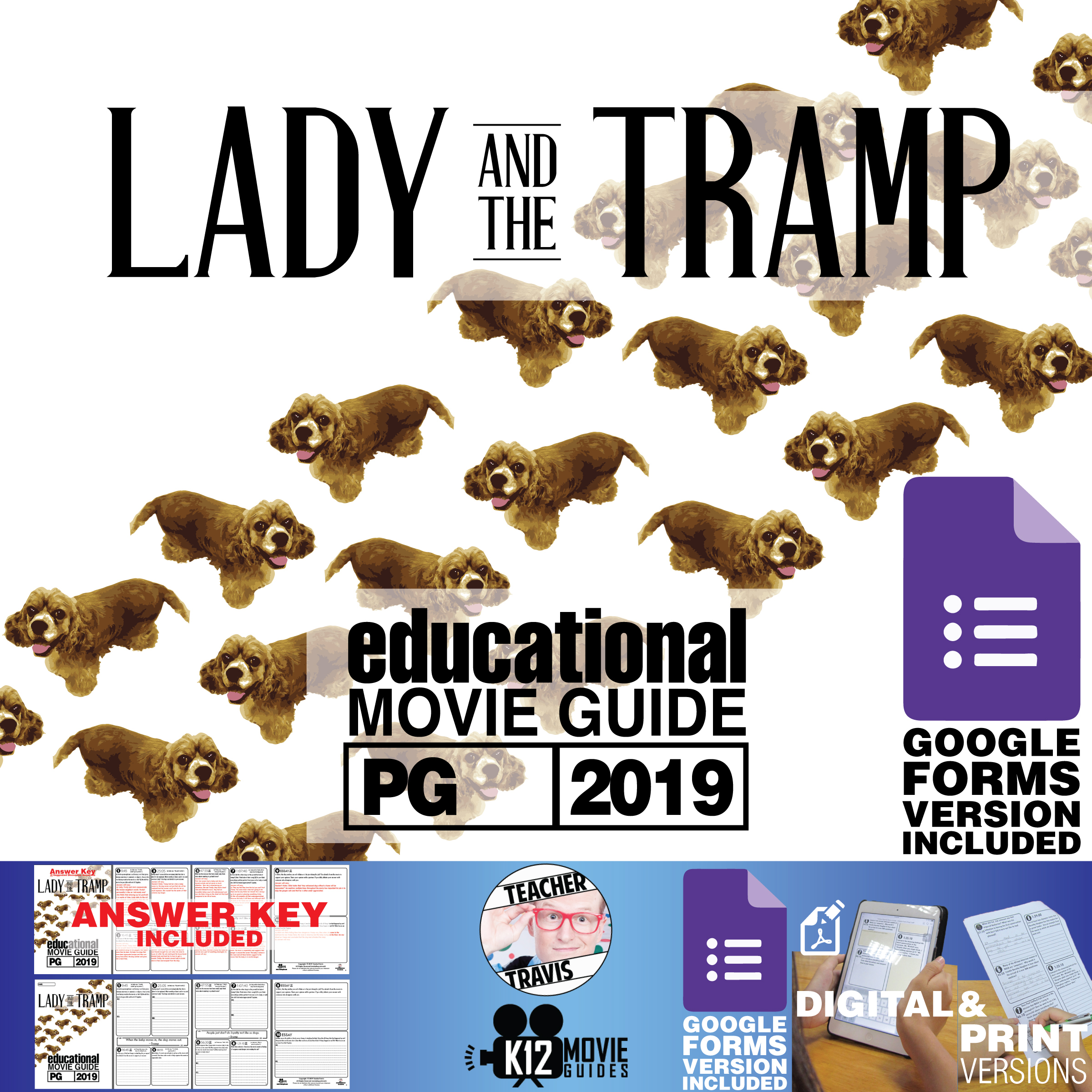 Lady and the Tramp Movie Guide   Questions   Worksheet (PG - 2019) Cover
