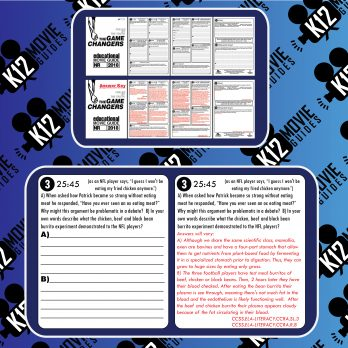 The Game Changers Documentary Movie Guide   Questions   Worksheet (2018) Free Sample