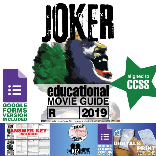 Joker Movie Guide | Questions | Worksheet (R - 2019) Cover