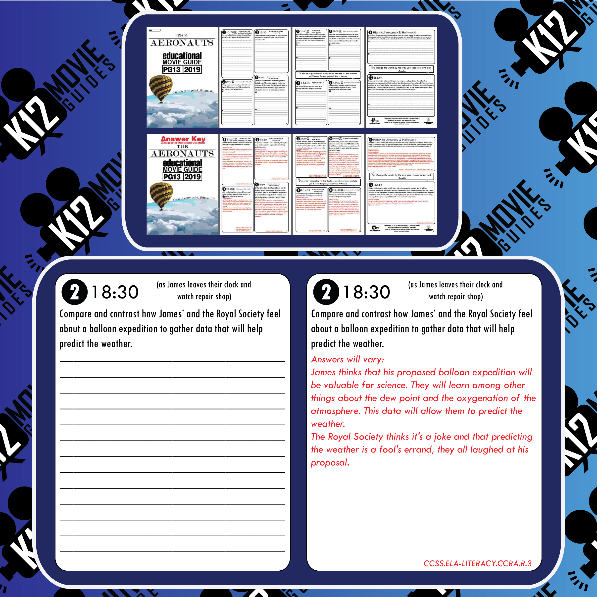 The Aeronauts Movie Guide   Questions   Worksheet (PG13 - 2019) Free Sample