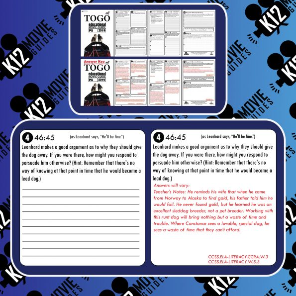 Togo Movie Guide | Questions | Worksheet (PG - 2019) Free Sample