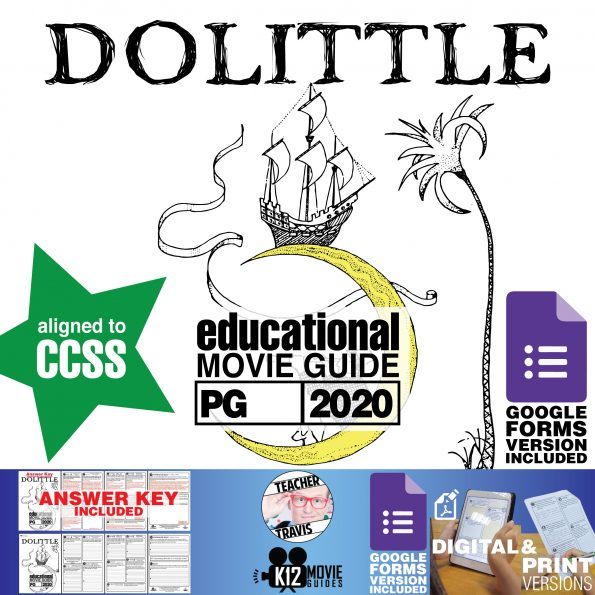 Dolittle Movie Guide | Questions | Worksheet (PG - 2020) Cover