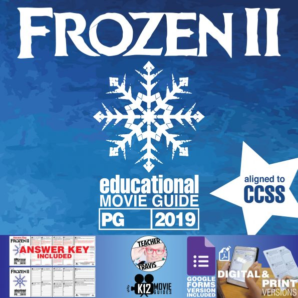 Frozen II Movie Guide | Questions | Worksheet (PG - 2019) Cover