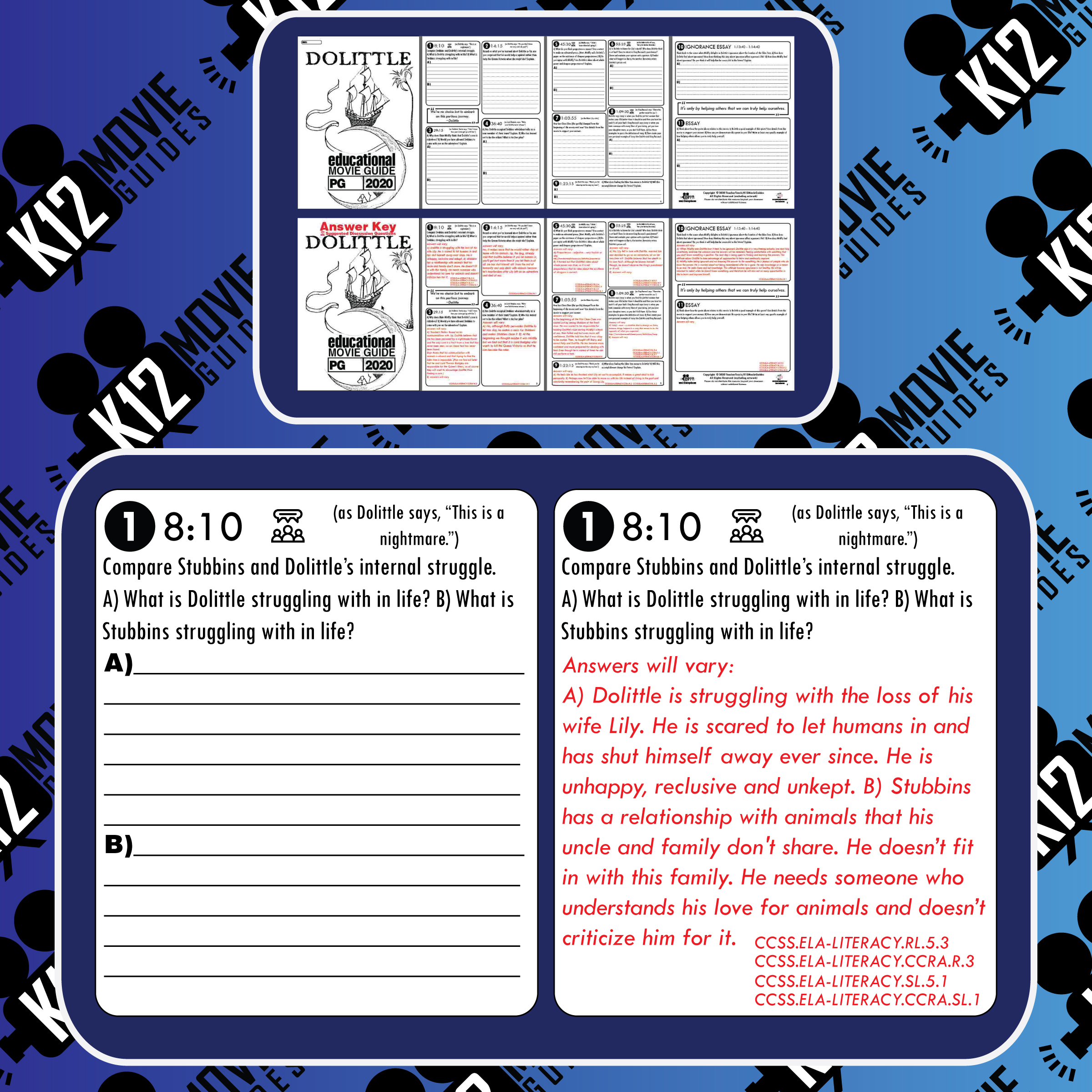 Dolittle Movie Guide   Questions   Worksheet (PG - 2020) Free Sample