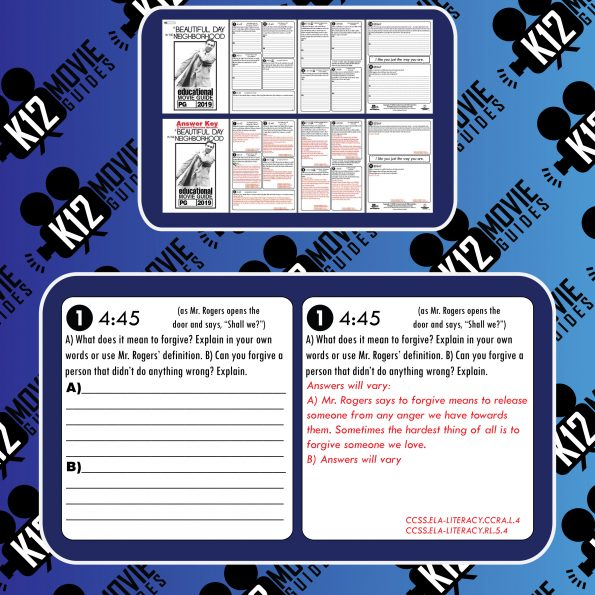 A Beautiful Day in the Neighborhood Movie Guide | Questions | Worksheet (PG - 2019) Free Sample