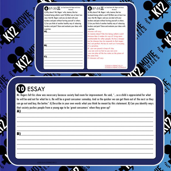 A Beautiful Day in the Neighborhood Movie Guide   Questions   Worksheet (PG - 2019) Free Sample
