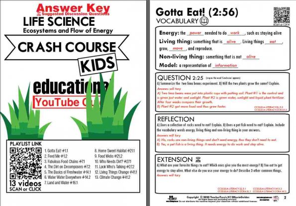 Crash Course Kids - Life Science Playlist - Gotta Eat! (E01) Youtube Guide Sample