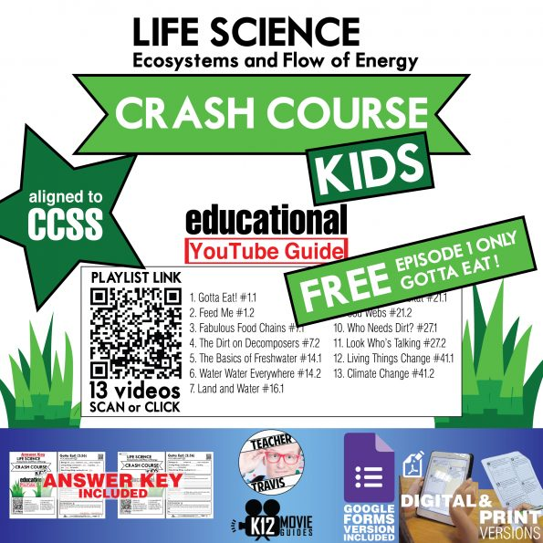 Crash Course Kids - Life Science - Gotta Eat! (E01) Free Youtube Guide Cover