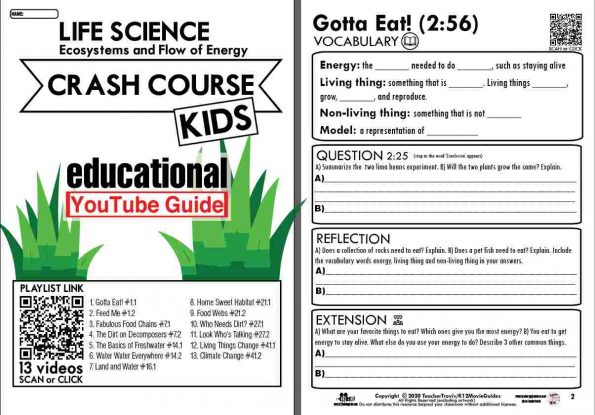 Crash Course Kids - Life Science Playlist - Gotta Eat! (E01) Youtube Guide Sample2