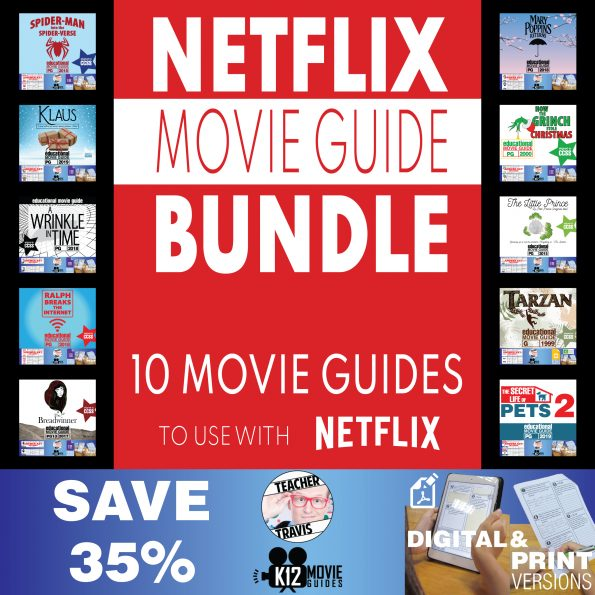 Netflix Bundle of 10 Movie Guides | Questions | Worksheet | SAVE over 35% Cover