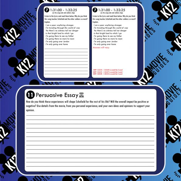 1917 Movie Guide | Questions | Worksheet (R - 2019) Free Sample