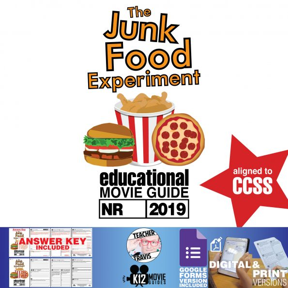 The Junk Food Experiment Documentary Movie Guide | Questions | Worksheet (2019) Cover