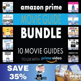 Amazon Prime Bundle of 10 Movie Guides | Questions | Worksheet | SAVE over 35% Cover
