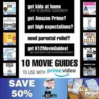 Amazon Prime Bundle of 10 Movie Guides for Corona Virus School Closures Cover