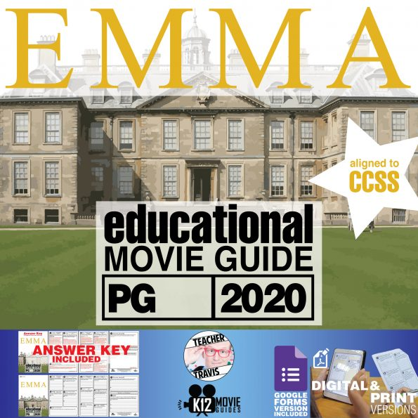 Emma Movie Movie Guide | Questions | Worksheet (PG - 2020) Cover