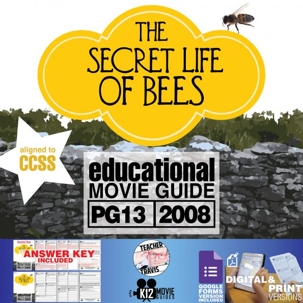 The Secret Life of Bees Movie Movie Guide | Questions | Worksheet (PG - 2020) Cover