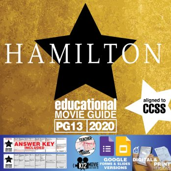 Hamilton Movie (Broadway Musical) Guide | Questions | Worksheet (PG13 - 2020) Cover
