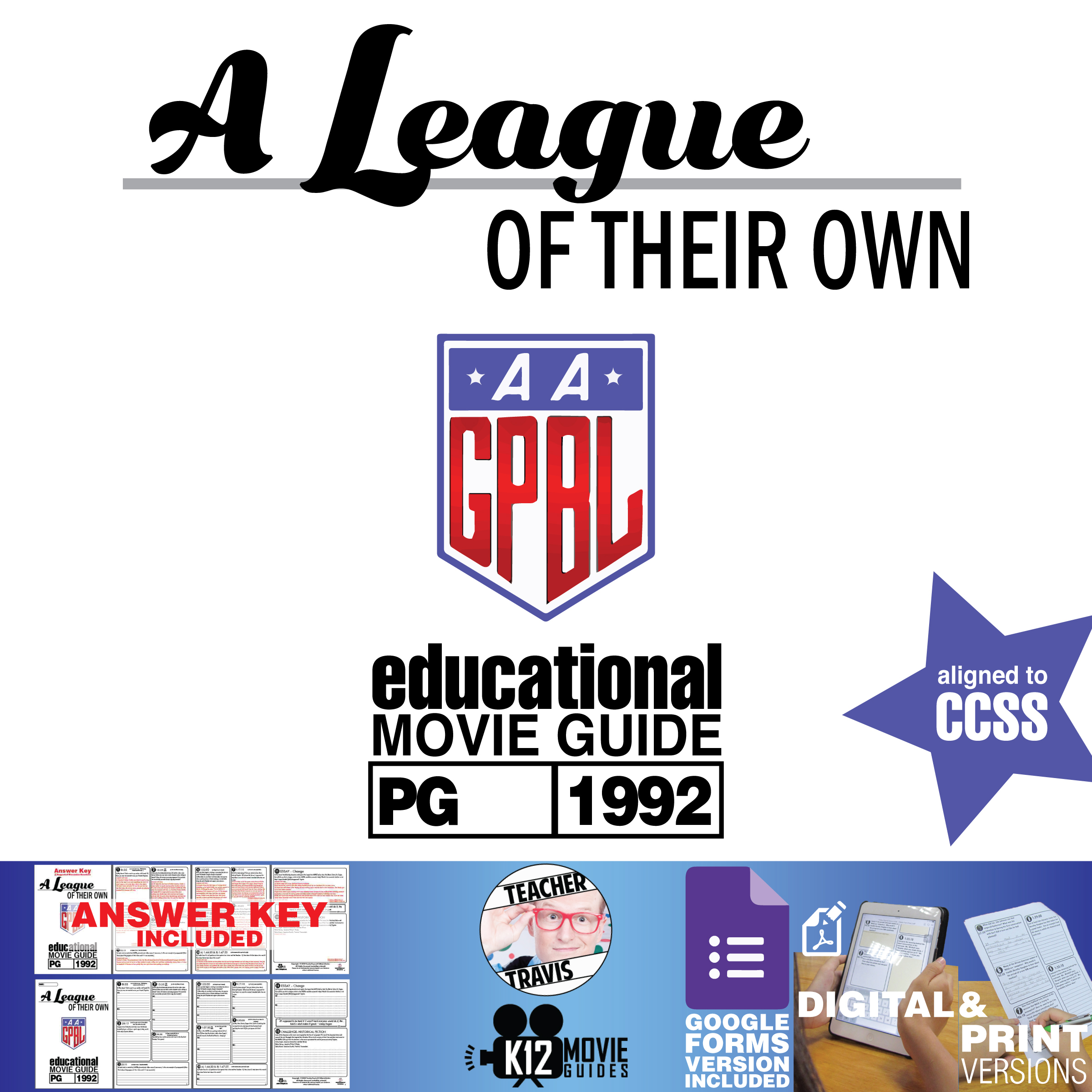 A League of Their Own Movie Guide | Questions | Google Forms (PG - 1992) Cover
