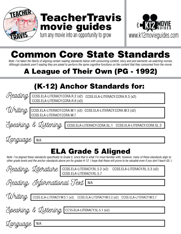 A League of Their Own Movie Guide | Questions | Google Forms (PG - 1992) CCSS