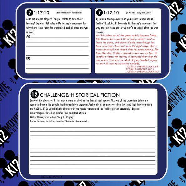 A League of Their Own Movie Guide | Questions | Google Forms (PG - 1992) Free Sample