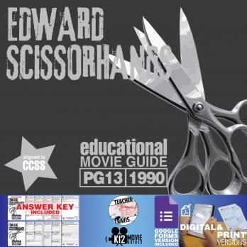 Edward Scissorhands Movie Guide | Questions | Worksheet | Google (PG13 - 1990) Cover
