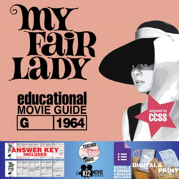 My Fair Lady Movie Guide | Questions | Worksheet | Google Forms (G - 1964) Cover