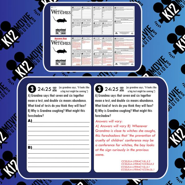 The Witches Movie Guide   Questions   Worksheet   Google Forms (PG - 2020) Free Sample