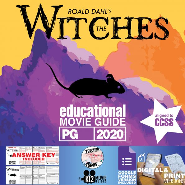 The Witches Movie Guide   Questions   Worksheet   Google Forms (PG - 2020) Cover