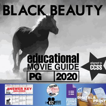 Black Beauty Movie Guide | Worksheet | Questions | Google Form (PG - 2020) Cover