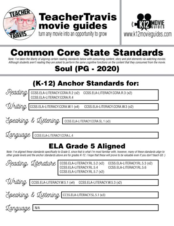 Soul Movie Guide | Worksheet | Questions | Google Form (PG - 2020) CCSS