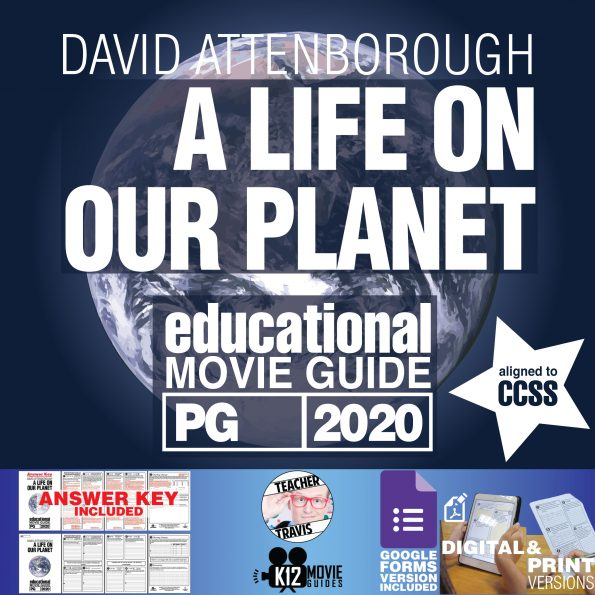 David Attenborough: A Life on Our Planet Movie Guide | Worksheet (PG - 2020) Cover