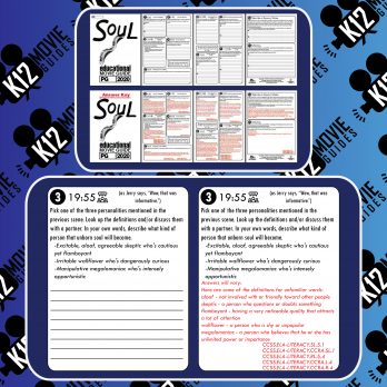 Soul Movie Guide | Worksheet | Questions | Google Form (PG - 2020) Free Sample