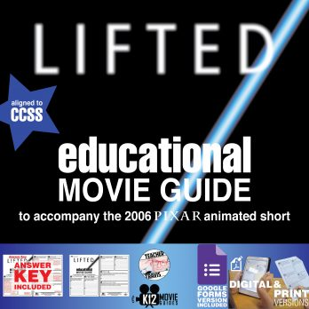 Lifted (2006) - Pixar Short Video Guide | Questions | Worksheet | Google Form - Cover