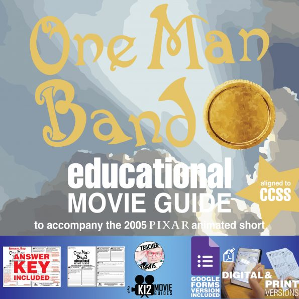 One Man Band (2005) - Pixar Short Video Guide | Questions | Worksheet | Google Form - Cover
