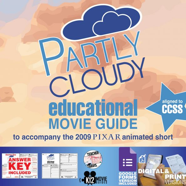 Partly Cloudy (2009) - Pixar Short Video Guide | Questions | Worksheet | Google Form | Cover