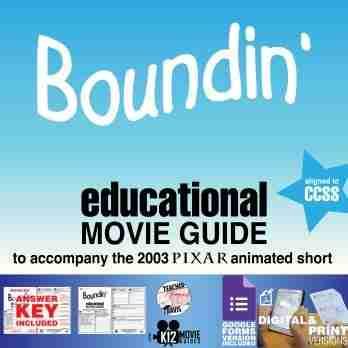 Boundin' Pixar Short Video Guide | Questions | Worksheet | Google Form (2003) Cover