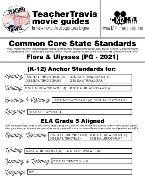 Flora & Ulysses Movie Guide | Worksheet | Questions | Google Form (PG - 2021) CCSS