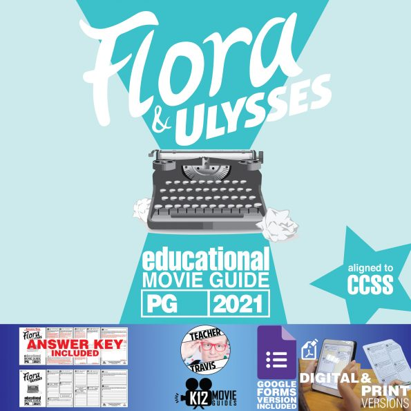 Flora & Ulysses Movie Guide | Worksheet | Questions | Google Form (PG - 2021) Cover