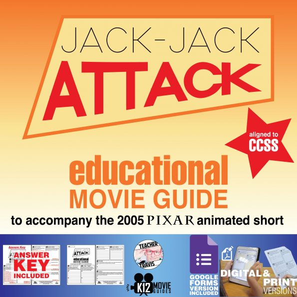 Jack-Jack Attack (2005) - Pixar Short Video Guide | Questions | Worksheet | Google Form | Cover
