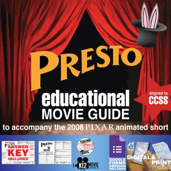 Presto (2008) - Pixar Short Video Guide | Questions | Worksheet | Google Form | Cover