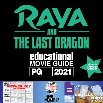 Raya and the Last Dragon Movie Guide | Worksheet | Questions | Google Form (PG - 2021) | Cover