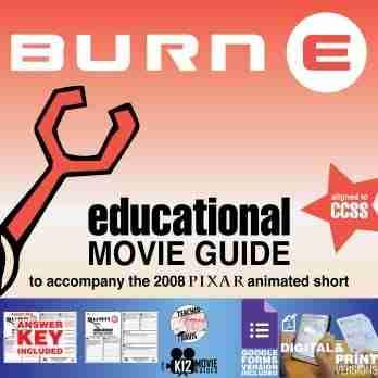 Burn-E Pixar Short Video Guide | Questions | Worksheet | Google Form (2008) Cover